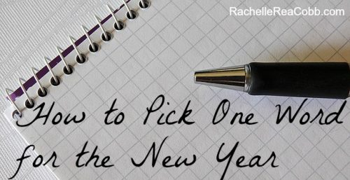 How to Pick One Word for the New Year