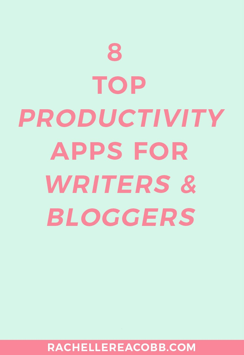 Let's get productive! Here are my top productivity apps for writers and bloggers