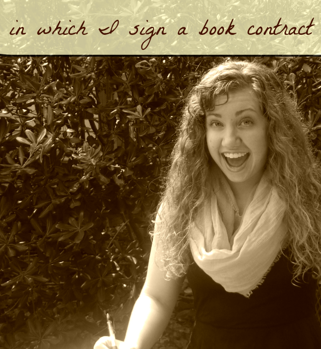 In Which I Sign a Book Contract