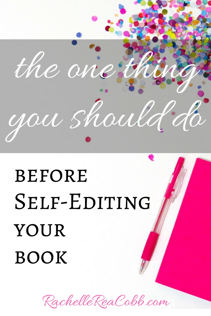 before self-editing your book