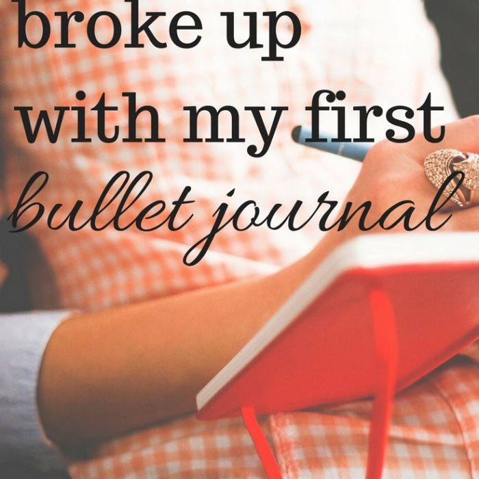 Why I Broke Up with My First Bullet Journal